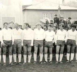 """Футбольная команда \""""Рыбак\"""", г.Невельск, 1986г."""