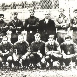 """Футбольная команда \""""Рыбак\"""", г.Невельск, 1972г."""