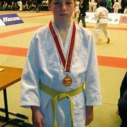 Бронзовый призер 15-го Токийского Международного юношеского чемпионата по дзюдо Игорь Кардаш (Россия, Южно-Сахалинск)