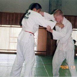 Матчевая встреча по дзюдо в Хакодате(Япония). Справа - Евгений Барабанов - чемпион Сахалинской области. Август 2004