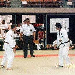 Матчевая встреча по дзюдо в г.Саппоро (Япония), слева Иван Кардаш август 2004г.