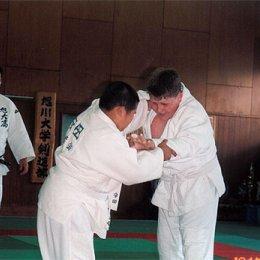 Матчевая встреча по дзюдо в г.Асахигава (Япония). Справа Владимир Бакшеев. август 2004г.