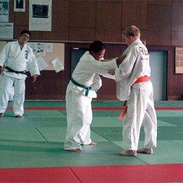 Матчевая встреча по дзюдо в г.Асахигава (Япония). Справа Игорь Кардаш. август 2004г.