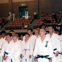 Матчевая встреча по дзюдо в г.Саппоро (Япония). август 2004г.