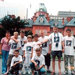 Российская делегация после официального приема в губернаторстве Хоккайдо август 2004г.