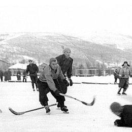 Хоккейный матч 50-х годов