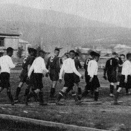 Футбольный матч 50-х годов