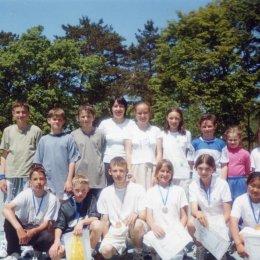Призеры турнира, посвященного Дню молодежи. 9-16.06.2001.