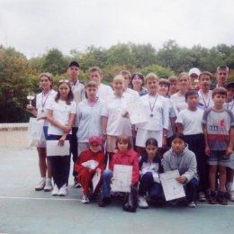 Участники турнира, посвященного Дню города. 15-16.09.2001