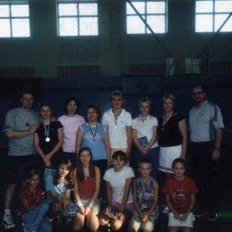 Участники первого женского теннисного турнира. 19.12.2004.