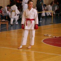 Данченко Анастасия - победительница соревнований по ката и кумитэ среди девушек 14-15 лет
