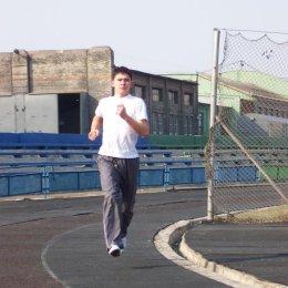 Александр Рим на утренней пробежке
