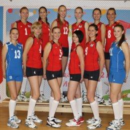 """Женская волейбольная команда """"Сахалин""""."""