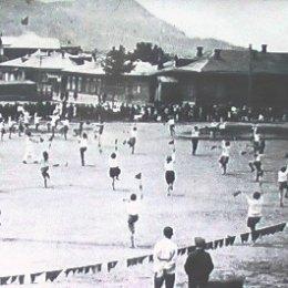 Открытие соревнований. г. Александровск. Конец 1920-х годов.