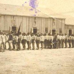 Открытие районной Спартакиады в Охе, 1933 год.