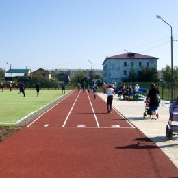 Стадион-площадка в Поронайске.