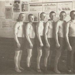 Спортсмены 165-го стрелкового полка. Село Оноры, 1941 год.