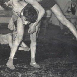 Соревнования борцов, 1950-е годы.