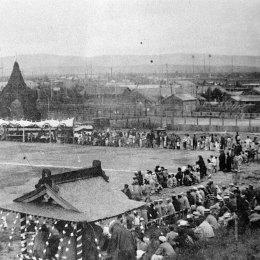 Спортивный праздник на стадионе в г. Отиай (Долинск)