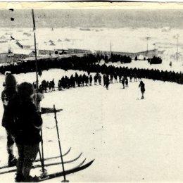 Горнолыжные соревнования в Маока (Холмск). Первая половина 1920-х годов.