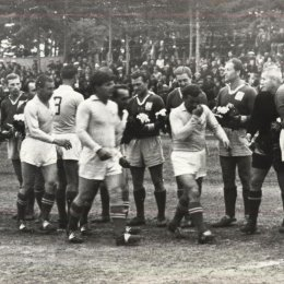 Ветераны советского футбола в Охе, 1970 год