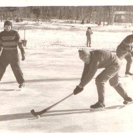Тренировка хоккеистов, конец 1950-х годов
