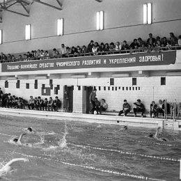 Соревнования в городском бассейне, начало 1970-х годов
