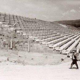 """Строительство стадиона """"Спартак"""" ,начало 1970-х годов."""