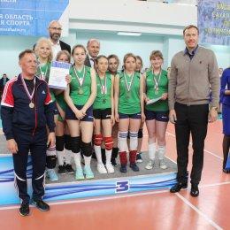 Награждение победителей и призеров Кубка губернатора по волейболу
