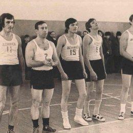 Сборная команда Долинска по баскетболу, конец 1960-х годов