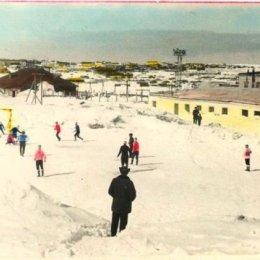 Зимний футбол в Охе, 1971 год