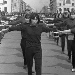 Физкультурный парад на площади Ленина, 1970 год