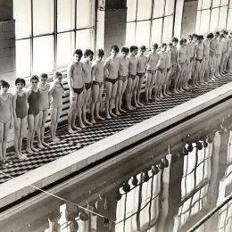 Городской бассейн в Южно-Сахалинске, 1970-е годы