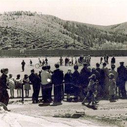 Стадион в Углегорске, начало 1950-х годов