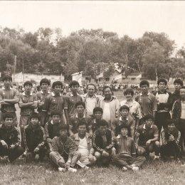 "Команда ""Вольмидо"" (Пхеньян, КНДР) в Долинске, 1988 год"