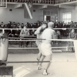 Соревнования по боксу в ДК железнодорожников, 1970-е годы