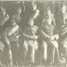 Участники лыжного перехода, Александровск. Рубеж 1930-х годов