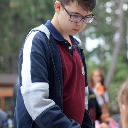 Сеанс одновременной игры Артема Хуснулгатина (Южно-Сахалинск) и Дмитрия Мерц (Хабаровск) в рамках празднования Дня физкультурника
