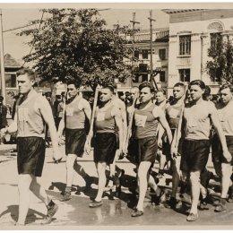 Шествие городошников по улице Ленина (1957 год)