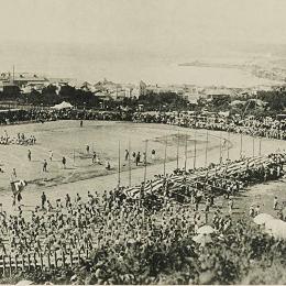 На стадионе гимназии в г. Маока (Холмск), середина 1930-х годов