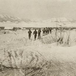 Лыжники, середина 1930-х годов