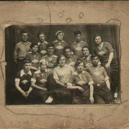 """Волейболисты ДСО """"Прибой"""", 1930-е годы"""