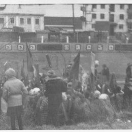 На стадионе в Невельске, начало 1970-х годов