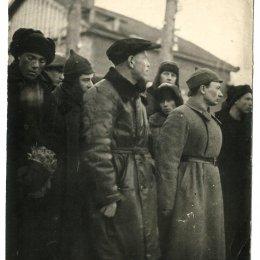 Встреча участников лыжного перехода Де-Кастри - Александровск, 1936 год