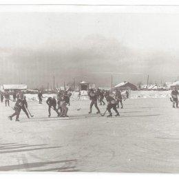 Соревнования по хоккею с мячом в Углегорске, 1970-е годы