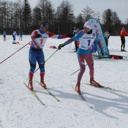 Районная Спартакиада в пгт. Ноглики стартовала с лыжной эстафеты