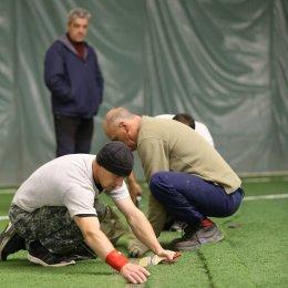 Специалисты из Хабаровска провели работы по укреплению искусственного покрытия футбольных полей СРК «Олимпия-Парк»