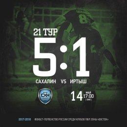 Статистика сезона «Сахалина»: победы, ничьи, поражения