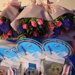 В островной столице наградили чемпионов России по горным лыжам среди лиц с ПОДА