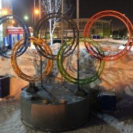 Олимпийские кольца в Южно-Сахалинске